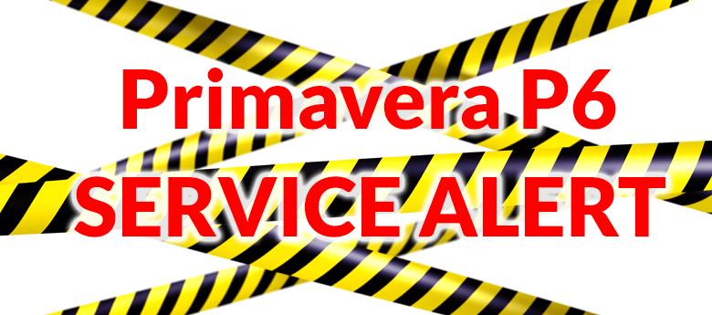 Primavera P6 Service Alert
